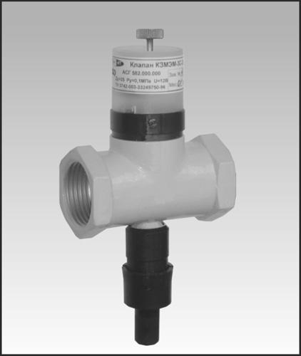 Клапан электромагнитный запорный мембранный, с ручным дублером, исполнение 24