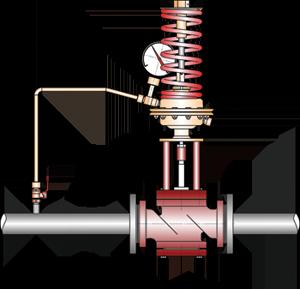 Регулятор давления после себя, исполнение 9-17, 27-35